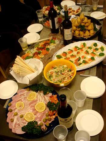 パーティーの料理