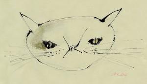 cat-クラフト紙にアクリル絵の具-インク-ペン-120mm-210mm-2012