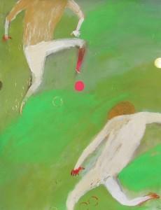 in-the-park-キャンバスペーパーにアクリル絵の具-色鉛筆-インク-ペン-409mm-318mm-2012